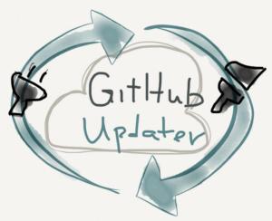 GitHub Updater logo concept